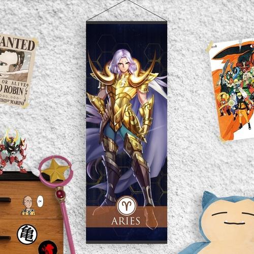 Imagen 1 de 8 de Lona Caballeros Del Zodiaco - Armadura Dorada Signos Parte 1