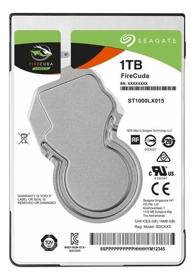 Disco rígido híbrido interno Seagate Firecuda ST1000LX015 1TB prata