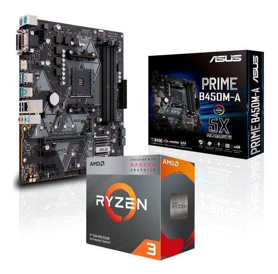 Combo Actualización Amd Ryzen 3 3200g B450 Prime Logg