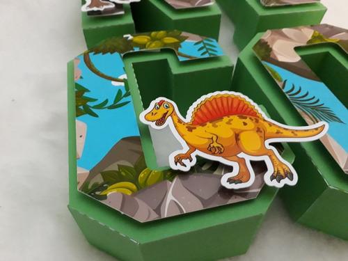 Letras 3d Dinosaurios Mesa Dulce Candybar Decoracion X 7