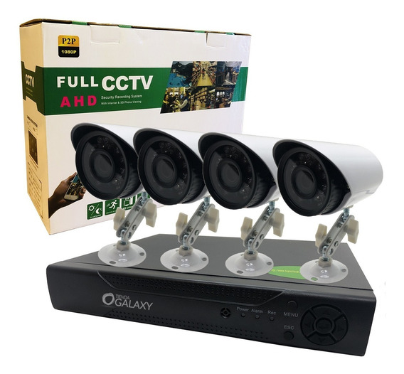 Kit Camaras Seguridad Dvr + 4 Camaras Full Hd 1080p