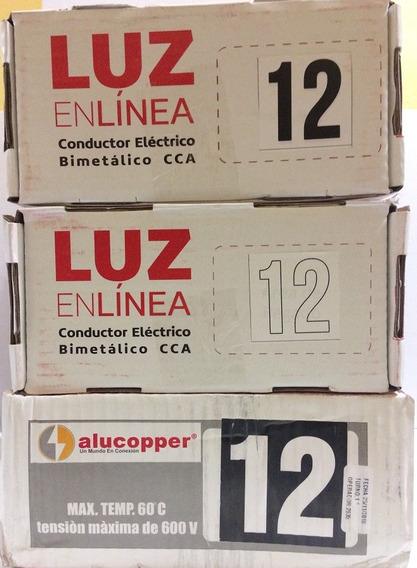 Thw Cal 12 Cca Bi-metalico Alu-cobre 3 Rollos 100 Mts