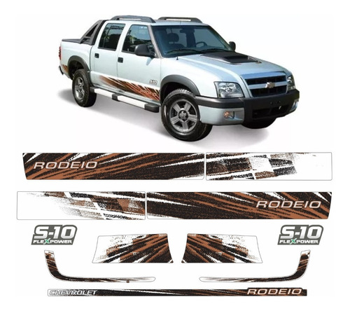 Kit Adesivo Faixa Chevrolet S10 Rodeio 2011 Flex Ou Diesel
