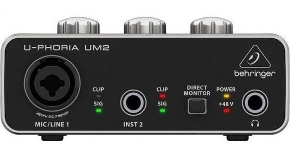 Interface De Áudio Behringer U-phoria Um2 - Ac0275