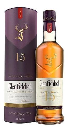 Imagen 1 de 7 de Whisky Glenfiddich 15 Años Single Malt 750ml En Estuche