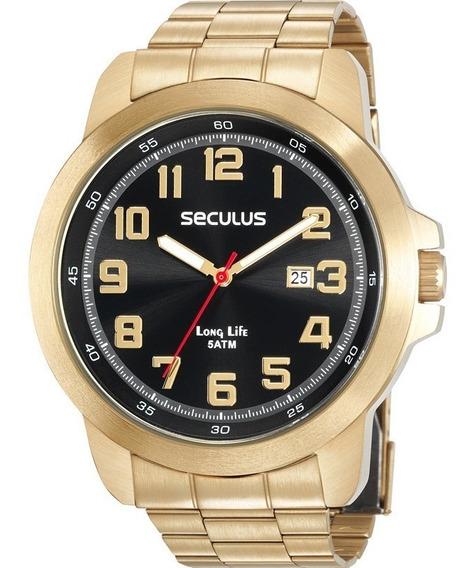 Relógio Masculino Seculus Long Life 28939gpsvda2 Calendário