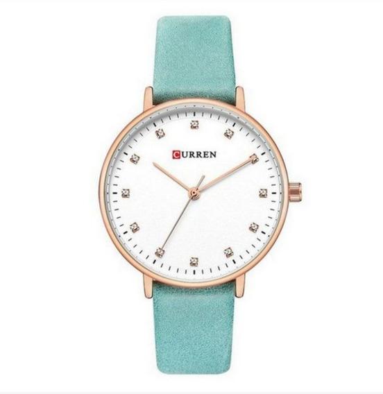 Relógio Feminino Curren Analógico C9023l Cor Azul Liquidação