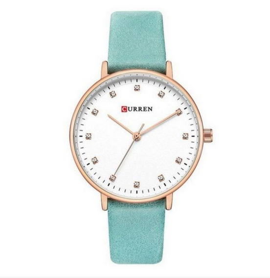 Relógio Feminino Curren Analógico C9023l Cor Azul