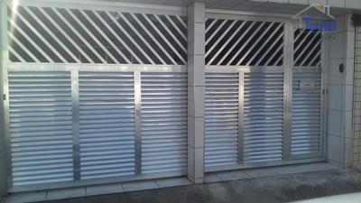 Casa Em São Vicente, 02 Dormitórios, Cômodos Amplos Com Churrasqueira, Na Esplanada Dos Barreiros Ca0058 - Ca0058