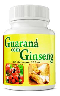 Guaraná Com Ginseng 500mg 100 Cápsulas Ervas Brasillis