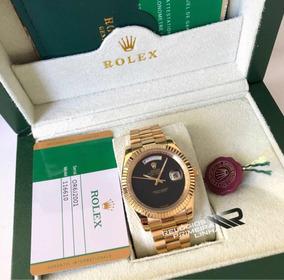 Rolex Dourado Presidente Daydate Com Caixa E Documentos