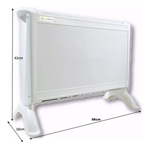 Imagen 1 de 9 de Calefactor Electrico Panel Estufa Exahome 2 Años Garantia