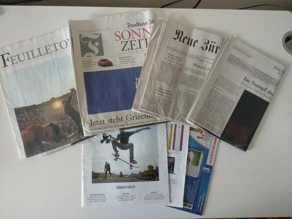 Jornal Em Alemão E Folhetos