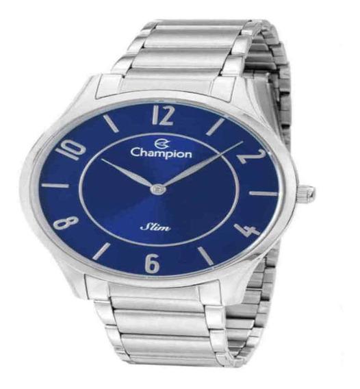 Relógio Champion Masculino Slim Prateado Ca21759f