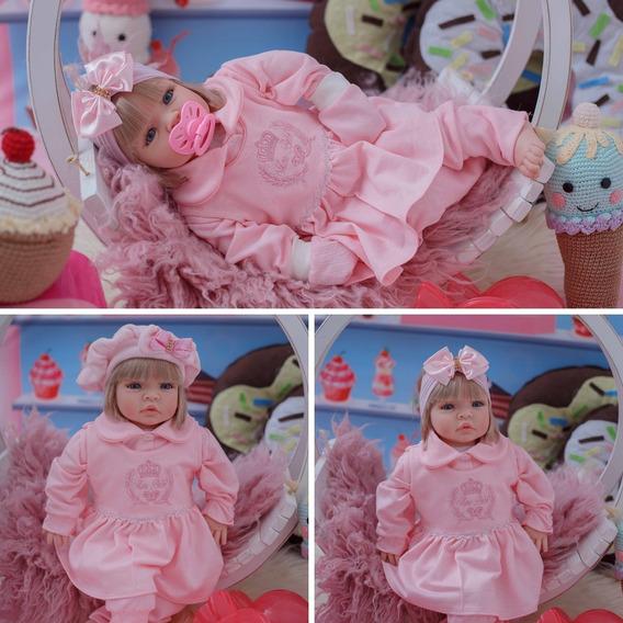 Boneca Reborn Bebê Realista Kit Acessórios Promoção