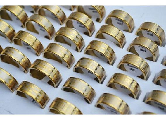 Lote 25 Anéis Gold Ring Atacado Tamanhos 17-21.