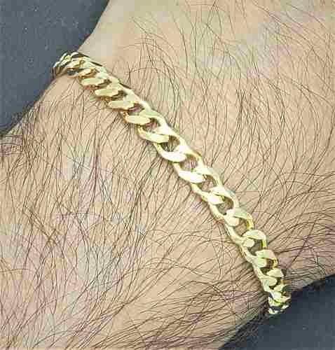 Pulseira Masculina Diamantada 21cm Banho Ouro 18k 1835