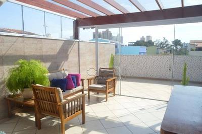 Cobertura Com 2 Dormitórios À Venda, 140 M² Por R$ 600.000 - Vila Pires - Santo André/sp - Co1604