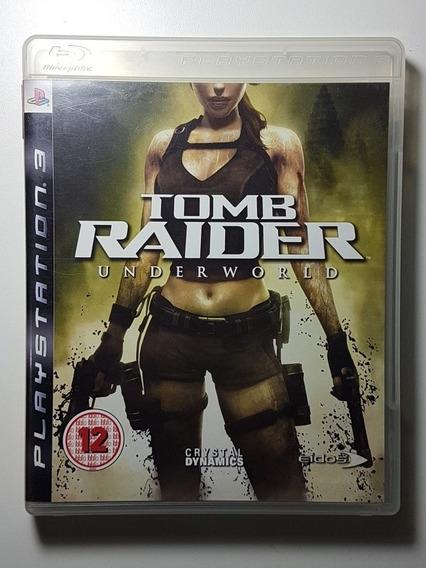 Tomb Raider Underworld Ps3 Mídia Física Perfeito Com Manual