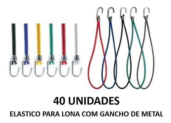Elastico Extensor Lona Gancho De Metal 40 Unidades Extensor