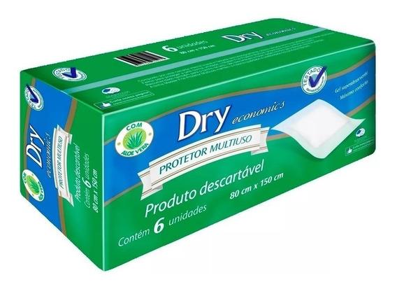 3 Pacotes Lençol Descartável Protetor Multiuso Dry Economic