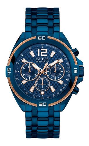 Reloj Guess Surge Caballero W1258g3 Azul