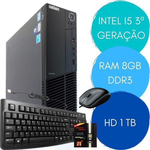 Computador/ Cpu Lenovintel I5 3º Geração 8gb  Hd 1tb + Wi-fi