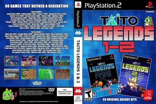 Emulador Taito Legendes 1 - 2 + 77 Jogos Para Play Station 2