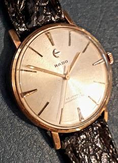 Reloj Rado A Cuerda Manual Chapa Oro 23 Jewels Shockprotecte