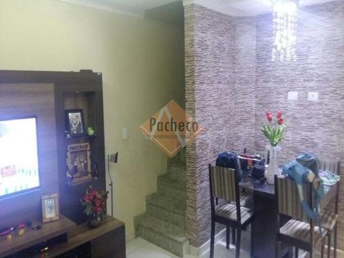 Sobrado Frontal No Jardim Danfer, 101 M², 02 Dormitórios, 04 Vagas, R$ 370.000,00 - 1255