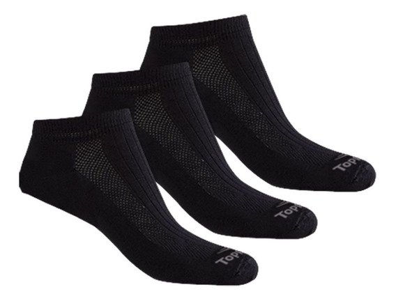 Medias Soquetes Topper Pack X 3 Pares Mujer Black