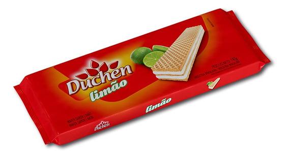 Biscoito Wafer Limão Duchen Pacote 140g 1 Unidade