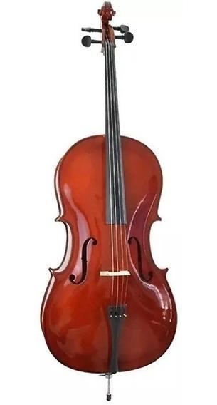 Violoncello Vivace Cmo 44 Mozart 4/4 C/ Capa/arco/breu - Nfe