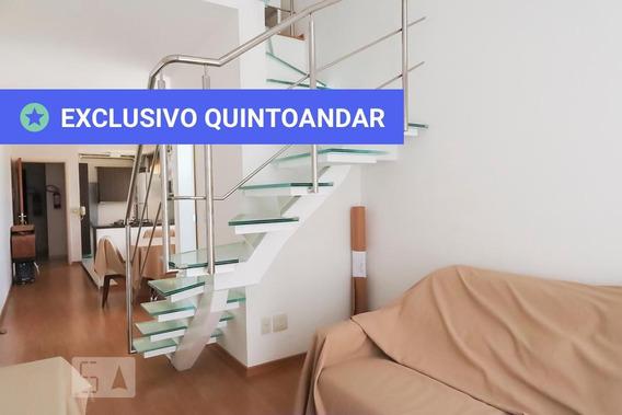 Apartamento No 15º Andar Mobiliado Com 1 Dormitório E 2 Garagens - Id: 892964199 - 264199