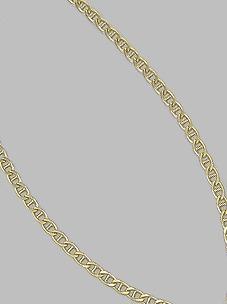 Corrente Folheada A Ouro Um Por Um Com 60 Cm