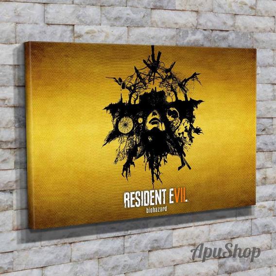 Cuadros Lienzo 60x40 Videojuegos Resident Evil Ps Pc Y Más