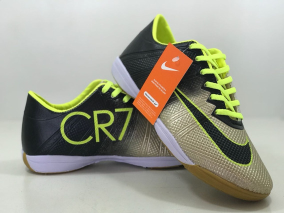 Chuteira Tenis Futsal Dourada Promoção