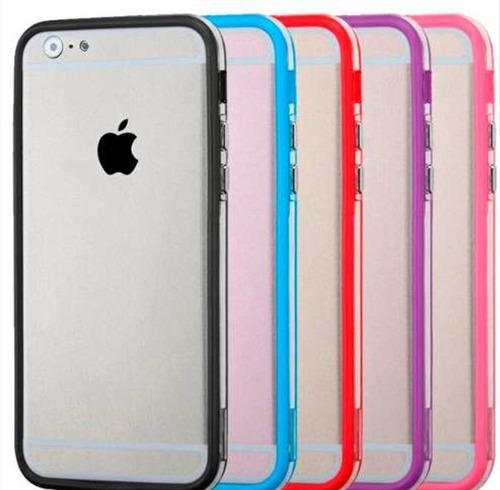 Fundas iPhone 6 Y 6plus, Silicona Transp. C/ Borde Color