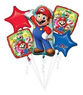 Super Mario Bros Ramo De Globos De Super Mario Talla Unica M