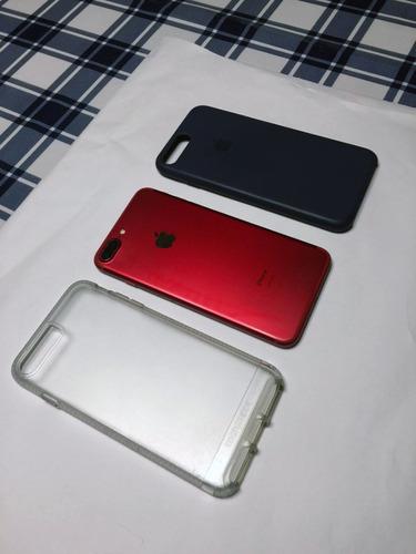 iPhone 7 Plus Red 256gb + 2 Capas Apple - 9 Meses De Uso