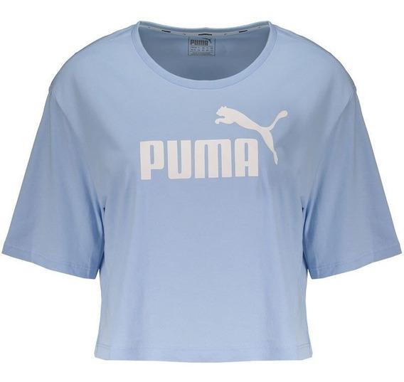 Blusa Cropped Puma Essentials Azul