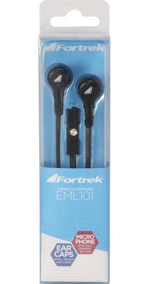 Fone De Ouvido Com Microfone Intra Auricular Fortrek