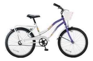 Bicicleta Futura Little Cruiser 5214 Rodado 20 Con Canasto