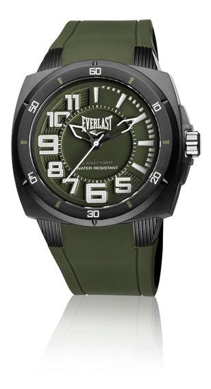 Relógio Masculino Everlast Esporte E680 48mm Silicone Verde