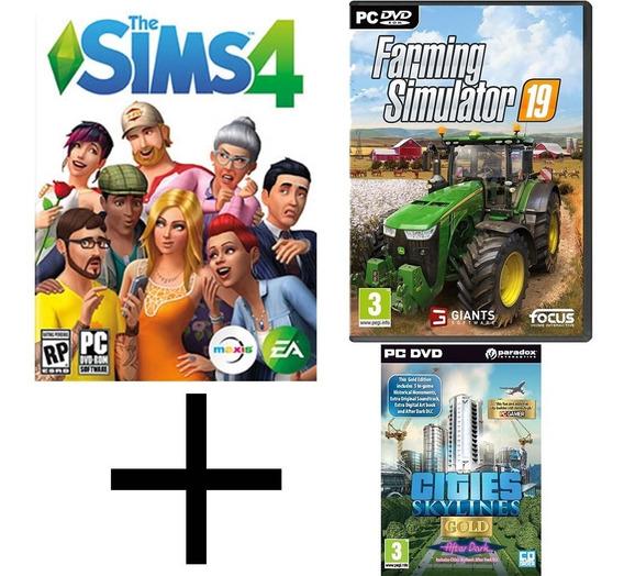 The Sims 4 Pc + Farming Simulator 19 + Cities Skylines Pc
