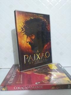 Dvd A Paixão De Cristo E Dvd Coração Valente Duplo Original