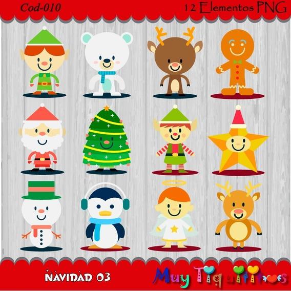 Kit Imprimible Navidad 03- Imagenes Png- Cliparts 2x1