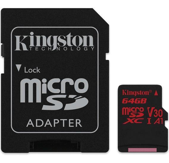 Cartão De Memória Microsd Kingston 64gb Classe 10- Sdcr/64gb