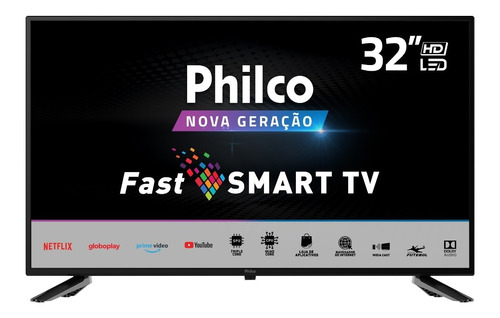 Imagem 1 de 6 de Smart Tv Philco 32 Ptv32n5se10h Hd Netflix Bivolt