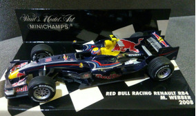 Mini 1/43 Minichamps F1 Red Bull Renault Rb4 Webber 2008 Rbr